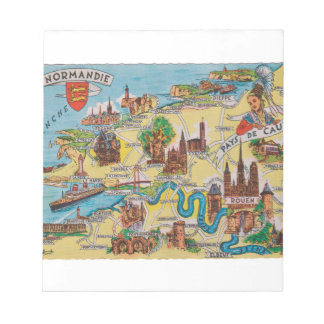 Normandie old map notepad