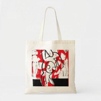 Normando el tote del conejito (rojo) bolsa