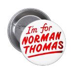 Normando Thomas - botón Pin Redondo De 2 Pulgadas