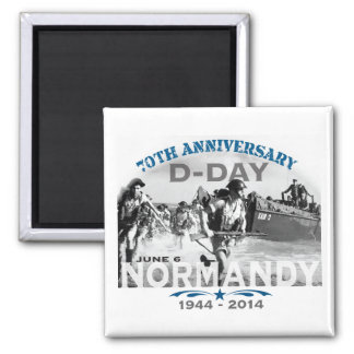 Normandy 70th D-Day Anniversary 2 Inch Square Magnet