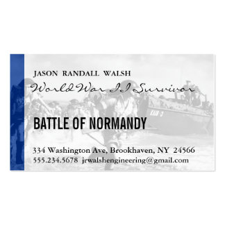 Normandy 70th D-Day Anniversary Double-Sided Standard Business Cards (Pack Of 100)