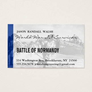Normandy 70th D-Day Anniversary Business Card