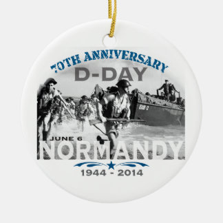 Normandy 70th D-Day Anniversary Double-Sided Ceramic Round Christmas Ornament