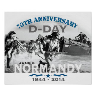 Normandy 70th D-Day Anniversary Poster