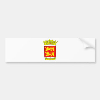 NORMANDY BLAZON BUMPER STICKER