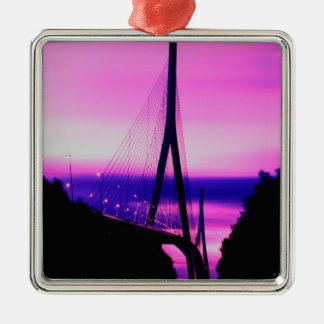 Normandy Bridge, Le Havre, France 2 Metal Ornament