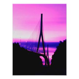 Normandy Bridge, Le Havre, France 2 Photo Print