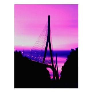 Normandy Bridge, Le Havre, France 2 Postcard