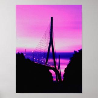 Normandy Bridge, Le Havre, France 2 Poster