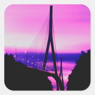 Normandy Bridge, Le Havre, France 2 Square Sticker