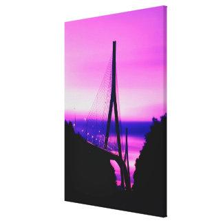 Normandy Bridge, Le Havre, France Canvas Print