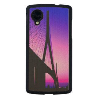 Normandy Bridge, Le Havre, France Carved® Maple Nexus 5 Slim Case