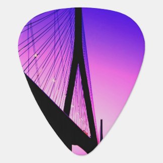 Normandy Bridge, Le Havre, France Guitar Pick