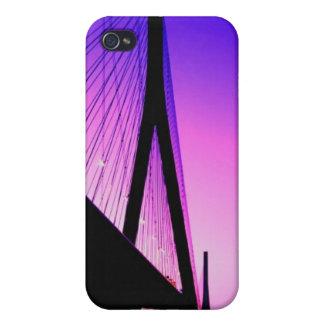 Normandy Bridge, Le Havre, France iPhone 4 Covers