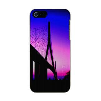 Normandy Bridge, Le Havre, France Metallic Phone Case For iPhone SE/5/5s