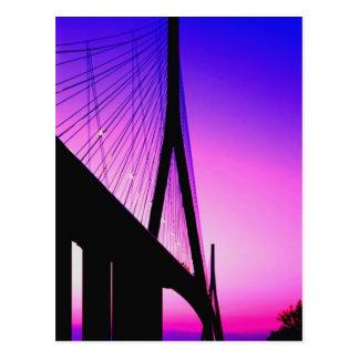 Normandy Bridge, Le Havre, France Postcard