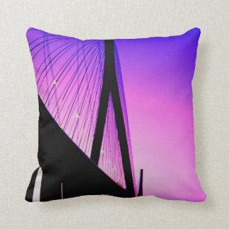 Normandy Bridge, Le Havre, France Throw Pillow