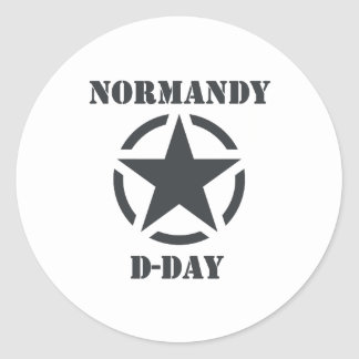 Normandy D-Day Classic Round Sticker