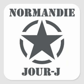 Normandy Day-J Square Sticker