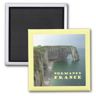 Normandy France 2 Inch Square Magnet