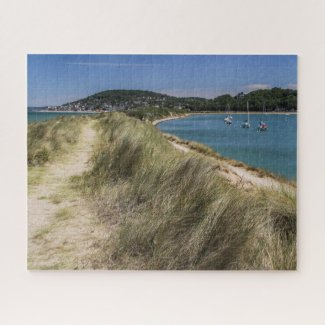 Normandy France Jigsaw Puzzle - Cabourg sand dune