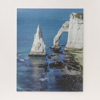 Normandy France Jigsaw Puzzle - Cliffs of Etretat