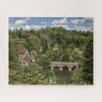 Normandy France Jigsaw Puzzle Saint Ceneri village