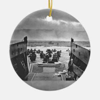 Normandy Invasion at D-Day - 1944 Ceramic Ornament