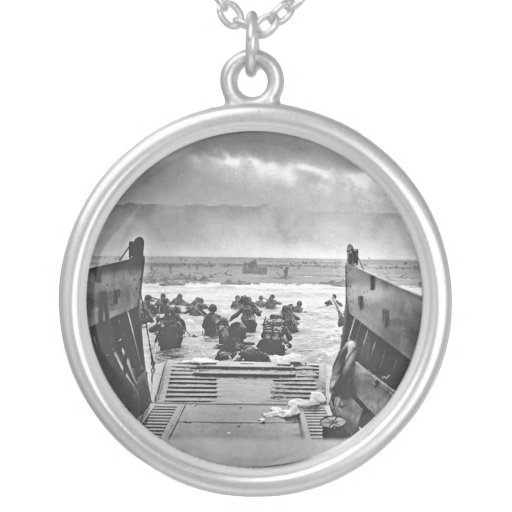 Normandy Invasion at D-Day - 1944 Personalized Necklace