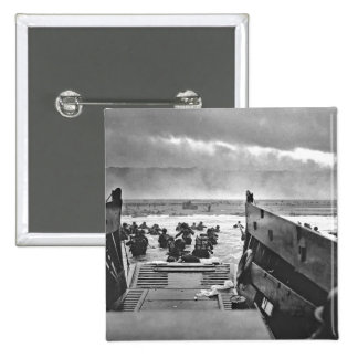 Normandy Invasion at D-Day - 1944 Pinback Button