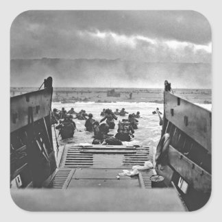 Normandy Invasion at D-Day - 1944 Square Sticker