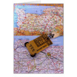 Normandy Map Stationery Note Card