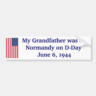 Normandy on D-Day Bumper Sticker