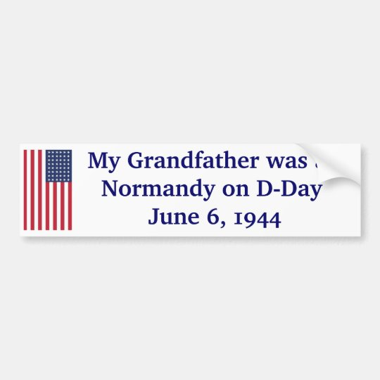 Normandy on d day bumper sticker