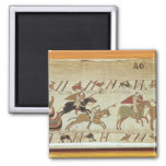 Normans disembark at Pevensey and the knights 2 Inch Square Magnet