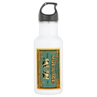 Normans Indian Mucilage Bulldog Advert 18oz Water Bottle