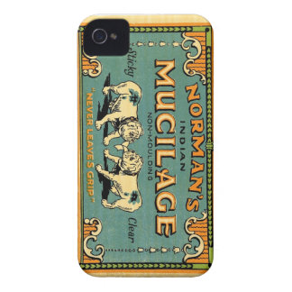 Normans Indian Mucilage Bulldog Advert iPhone 4 Covers