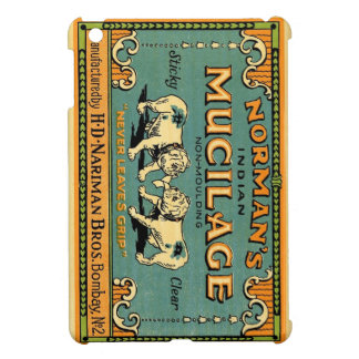 Normans Indian Mucilage Bulldog Advert iPad Mini Cover