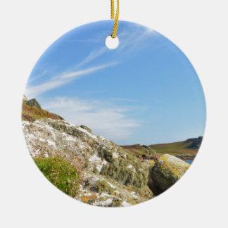 Nornour en las islas de Scilly Adorno Navideño Redondo De Cerámica