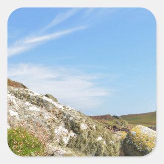 Nornour en las islas de Scilly Pegatina Cuadrada
