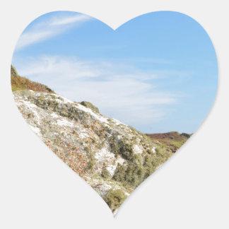 Nornour en las islas de Scilly Pegatina En Forma De Corazón