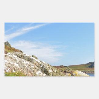 Nornour en las islas de Scilly Pegatina Rectangular
