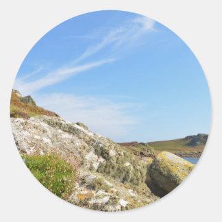 Nornour en las islas de Scilly Pegatina Redonda
