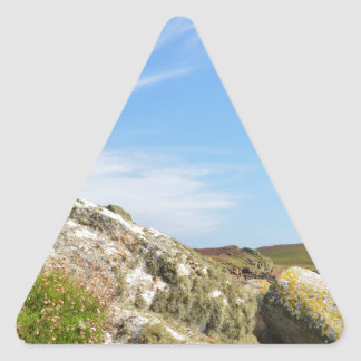 Nornour en las islas de Scilly Pegatina Triangular