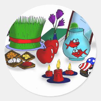 Norooz Cartoon Classic Round Sticker