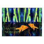 Norooz feliz, natación del Goldfish Felicitaciones