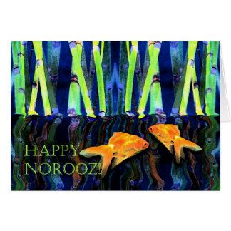 Norooz feliz, natación del Goldfish Tarjeta De Felicitación