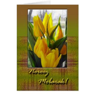 Norooz Mobarak, tulipanes de la primavera Tarjeta De Felicitación