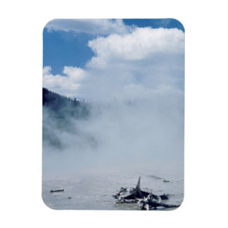 Norris Geyser Basin at Yellowstone National Park Rectangular Photo Magnet