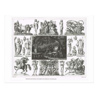 Norse and Germanic mythology Postcard